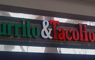 red and green Burrito & Taco House