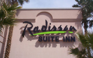 Channel-Letters---Radisson-Inn Suites wall sign