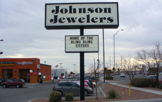 Johnson Jewelers Sign