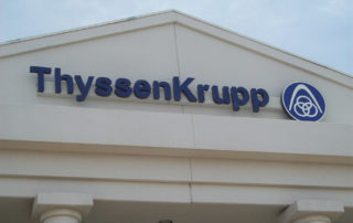 ThyssenKrupp - Exterior Building Sign