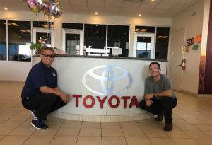 Picture of Vladimir Mena of Fox Toyota & Leiferman Enterprise President Jacob Leiferman