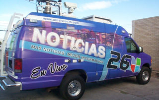 Univision 26 van vehicle graphics