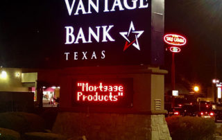 Vantage Bank lit monument sign