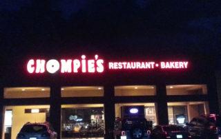 Illuminated Exterior Sign - Chompie's Delicatessen