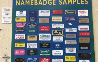 Sampling of different name badges