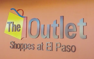 The Outlets Shoppes - Cut-out sign