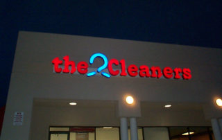 The-Cleaners Illuminated Exterior Sign