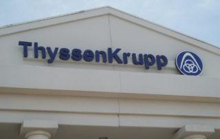 ThyssenKrupp - Exterior Building Sign