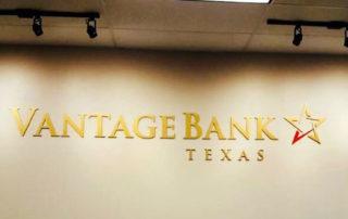 Interior wall sign-Vantage Bank of Texas