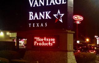 Vantage Bank lit monument sign