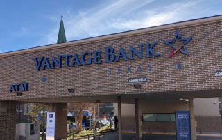 Channel letter sign Vantage Bank of Texas